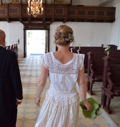 Special designet brudekjole